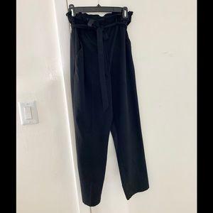 H&M | Black Slacks with Belted Ribbon